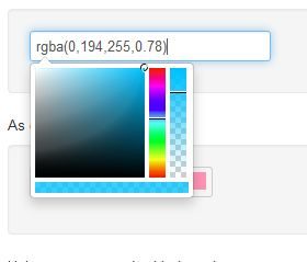 Colorpicker for Twitter Bootstrap