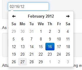 Datepicker for Bootstrap, from Twitter